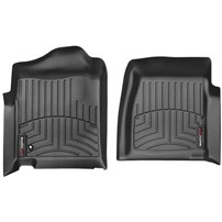 WeatherTech DigitalFit FloorLiner Front Set (BLACK) - 2001-2007 GM Silverado/Sierra (Regular Cab - w/o 4x4 Floor Shifter)