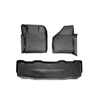 WeatherTech DigitalFit FloorLiner Set - 2008-2010 Ford Super Duty (Crew Cab - w/o Floor Mounted 4x4 Shifter) - Black