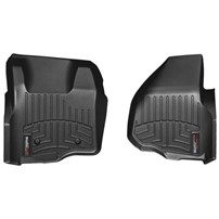 WeatherTech DigitalFit FloorLiner Front Set (BLACK) - 2011-2012 Ford Super Duty (Extended/Crew Cab - w/o 4x4 Floor Shifter w/o Raised Dead Pedal)