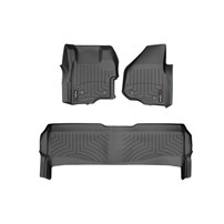 WeatherTech DigitalFit FloorLiner Set - 2011-2012 Ford Super Duty (Crew Cab - with 4x4 Floor Shifter w/o Raised Dead Pedal) - Black
