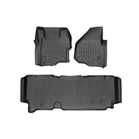 WeatherTech DigitalFit FloorLiner Set - 2011-2012 Ford Super Duty (Extended Cab - with 4x4 Floor Shifter w/o Raised Dead Pedal) - Black