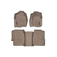 WeatherTech DigitalFit FloorLiner Set - 2001-2007 GM Silverado/Sierra (Extended Cab, Long Bed) - Tan
