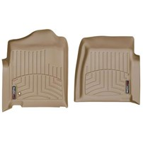 WeatherTech DigitalFit FloorLiner Front Set (TAN) - 2001-2007 GM Silverado/Sierra (Regular Cab - w/o 4x4 Floor Shifter)