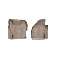WeatherTech DigitalFit FloorLiner Front Set (TAN) - 2011-2012 Ford Super Duty (Regular Cab - with 4x4 Floor Shifter w/o Raised Dead Pedal)
