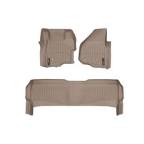 WeatherTech DigitalFit FloorLiner Set - 2011-2012 Ford Super Duty (Crew Cab - with 4x4 Floor Shifter w/o Raised Dead Pedal) - Tan