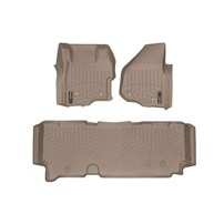 WeatherTech DigitalFit FloorLiner Set - 2011-2012 Ford Super Duty (Extended Cab - with 4x4 Floor Shifter w/o Raised Dead Pedal) - Tan
