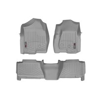 WeatherTech DigitalFit FloorLiner Set - 2001-2007 GM Silverado/Sierra (Crew Cab) - Grey