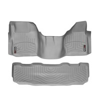 WeatherTech DigitalFit FloorLiner Set - 2008-2010 Ford Super Duty (Crew Cab - w/o Floor Mounted 4x4 Shifter)(Over-The-Hump) - Grey