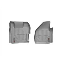 WeatherTech DigitalFit FloorLiner Front Set (GREY) - 2011-2012 Ford Super Duty (Regular Cab - with 4x4 Floor Shifter w/o Raised Dead Pedal)